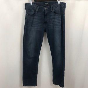 Paige 32x27 Federal Slim Straight Leg Jeans Hemmed